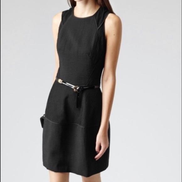 Reiss Dresses Black Zaria Sheer Stripe Dress Size 6 Poshmark